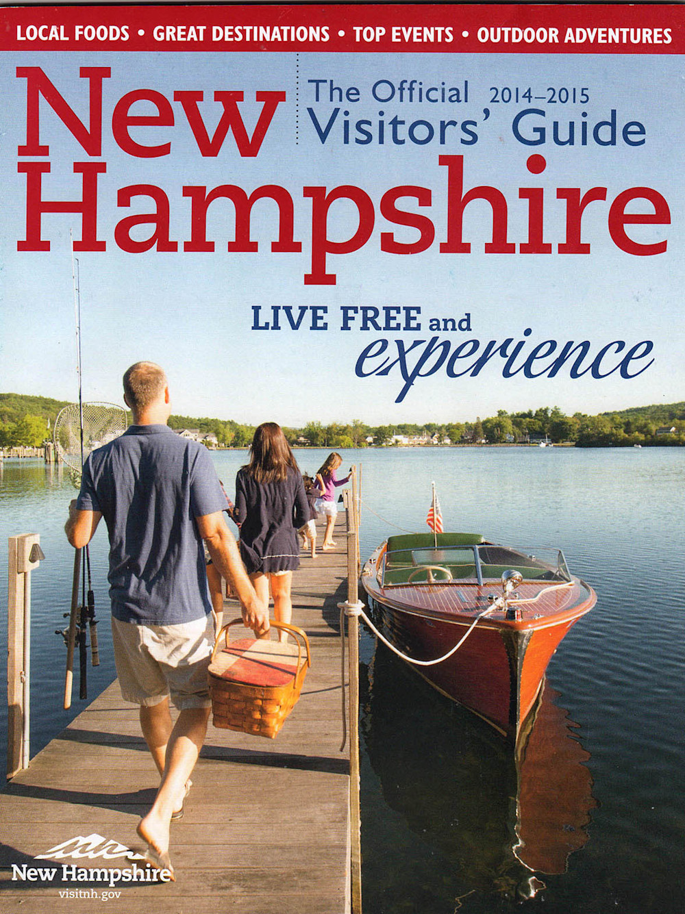 New Hampshire's official visitor guide 2015-Center spread photo © Thomas Schoeller Photography