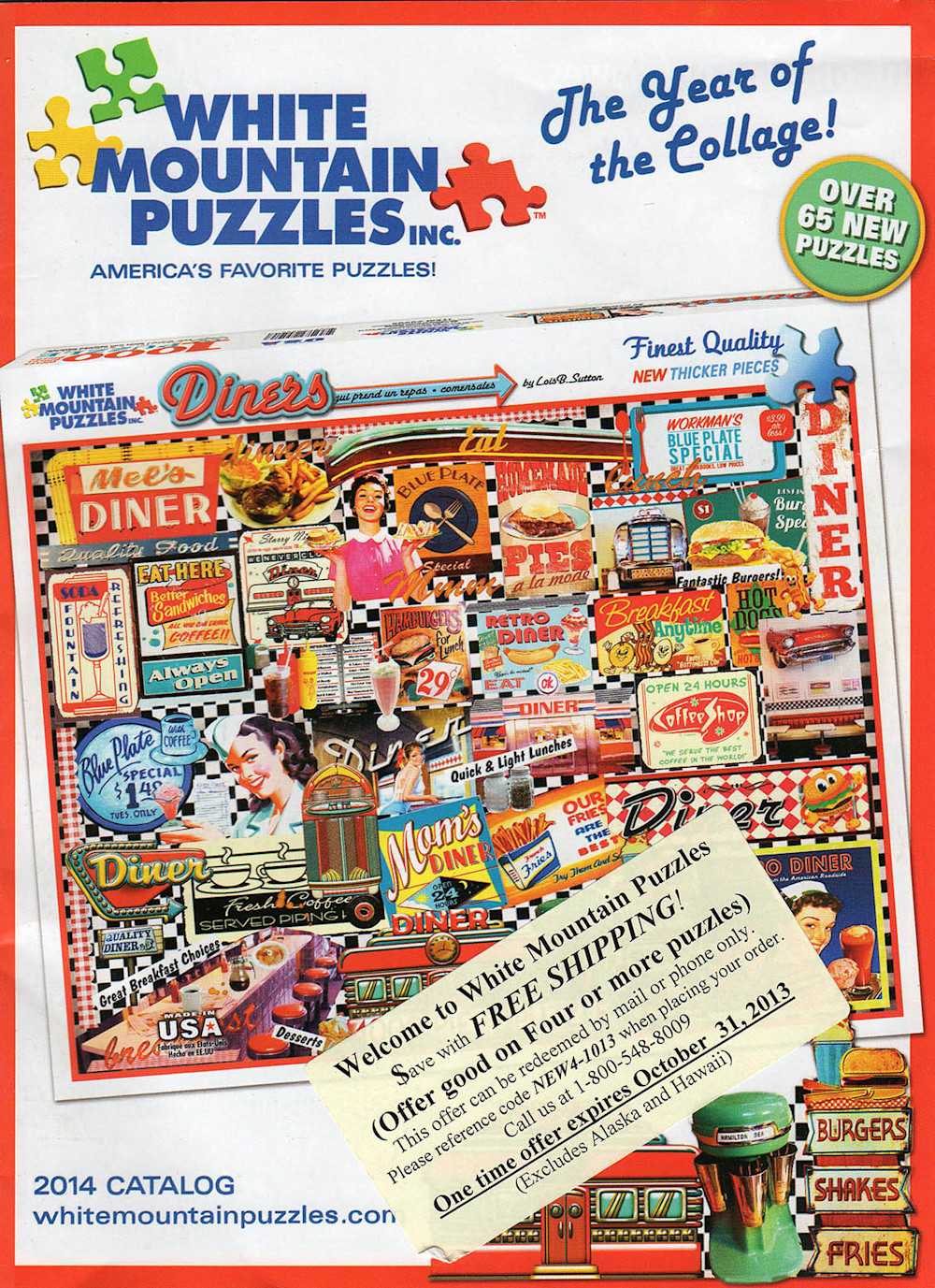 White Mountain Puzzles Inc catalog- featuring Thomas Schoeller Photography covered bridge artwork