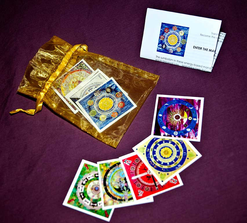 talisman pouch with mandala cards