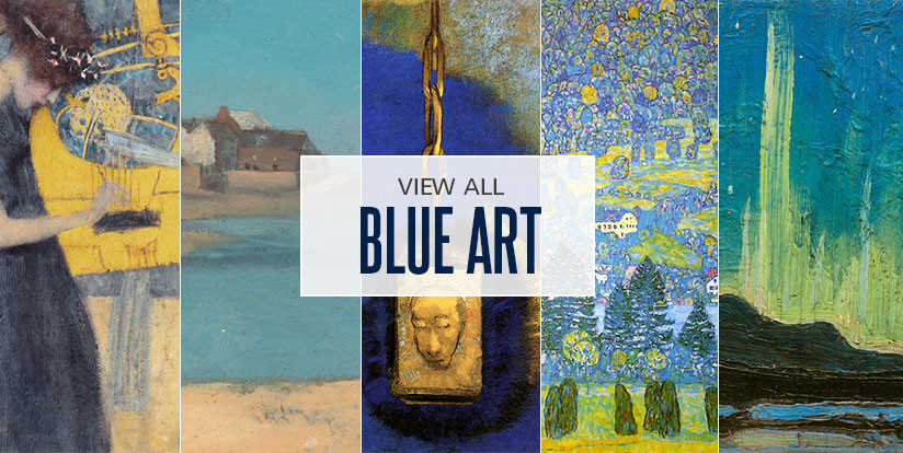 Examples of mostly blue artwork