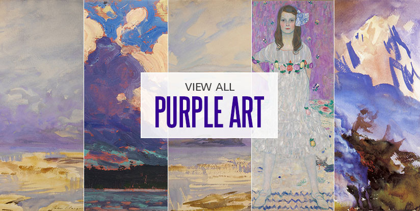 Examples of mostly purple artwork