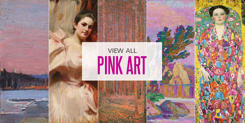 Examples of mostly pink artwork