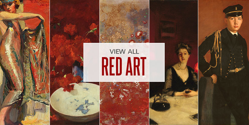 Examples of mostly red artwork