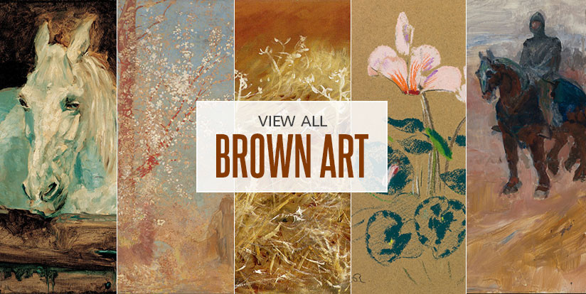 Examples of mostly brown artwork
