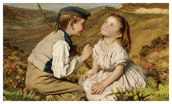 It's Touch And Go To Laugh Or No by Sophie Anderson