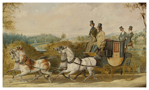 A Coach Passing an English Country Estate by Henry Thomas Alken