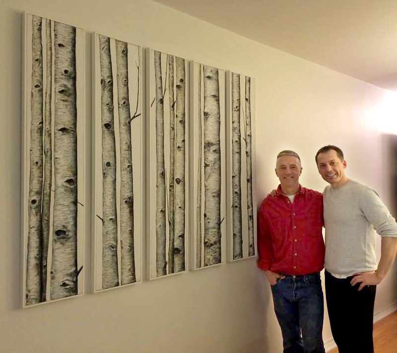 Birch polyptych by Anton Uhl