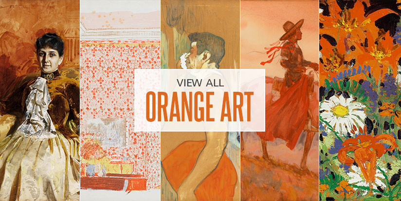 Examples of mostly orange artwork