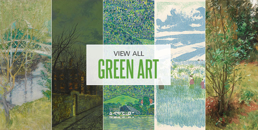 Examples of mostly green artwork