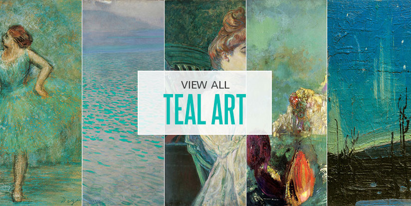 Examples of mostly teal artwork