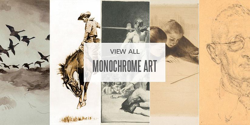 Examples of monochromatic artwork