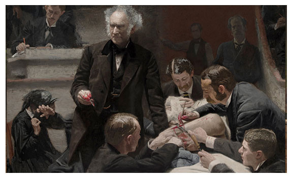 Portrait of Dr. Samuel D. Gross. The Gross Clinic by Thomas Eakins