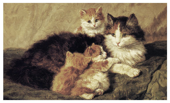 Contentment by Henriette Ronner Knip