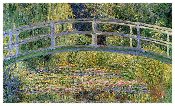 The Japanese Bridge and Water Lily Pond by Claude Monet