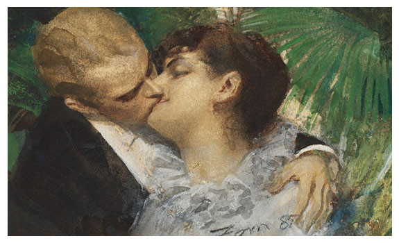 The Embrace 1882 by Anders Zorn