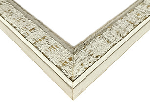 Narrow Rustic White Picture Frame