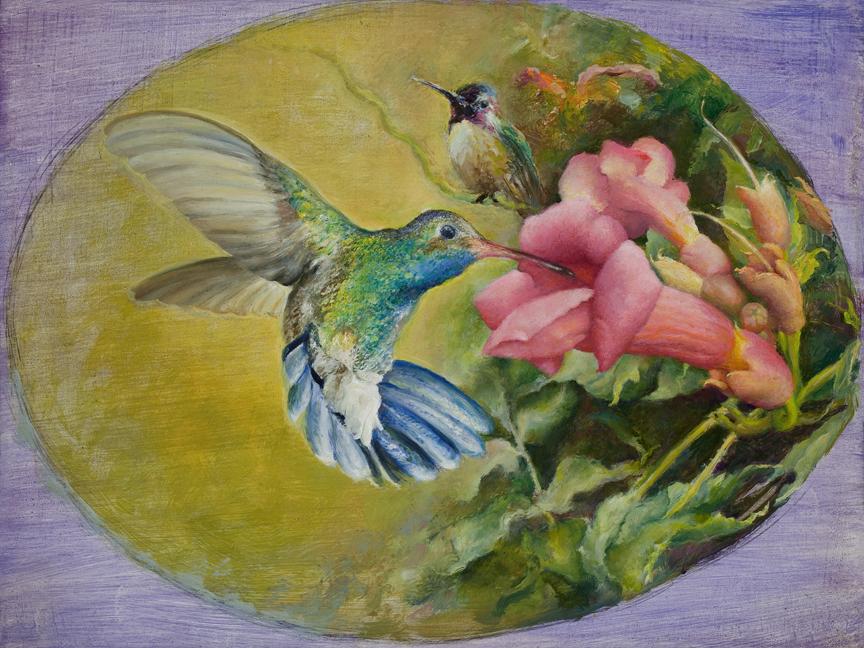 Two_hummingbirds_-_rafferty_-_painting_thtn2c