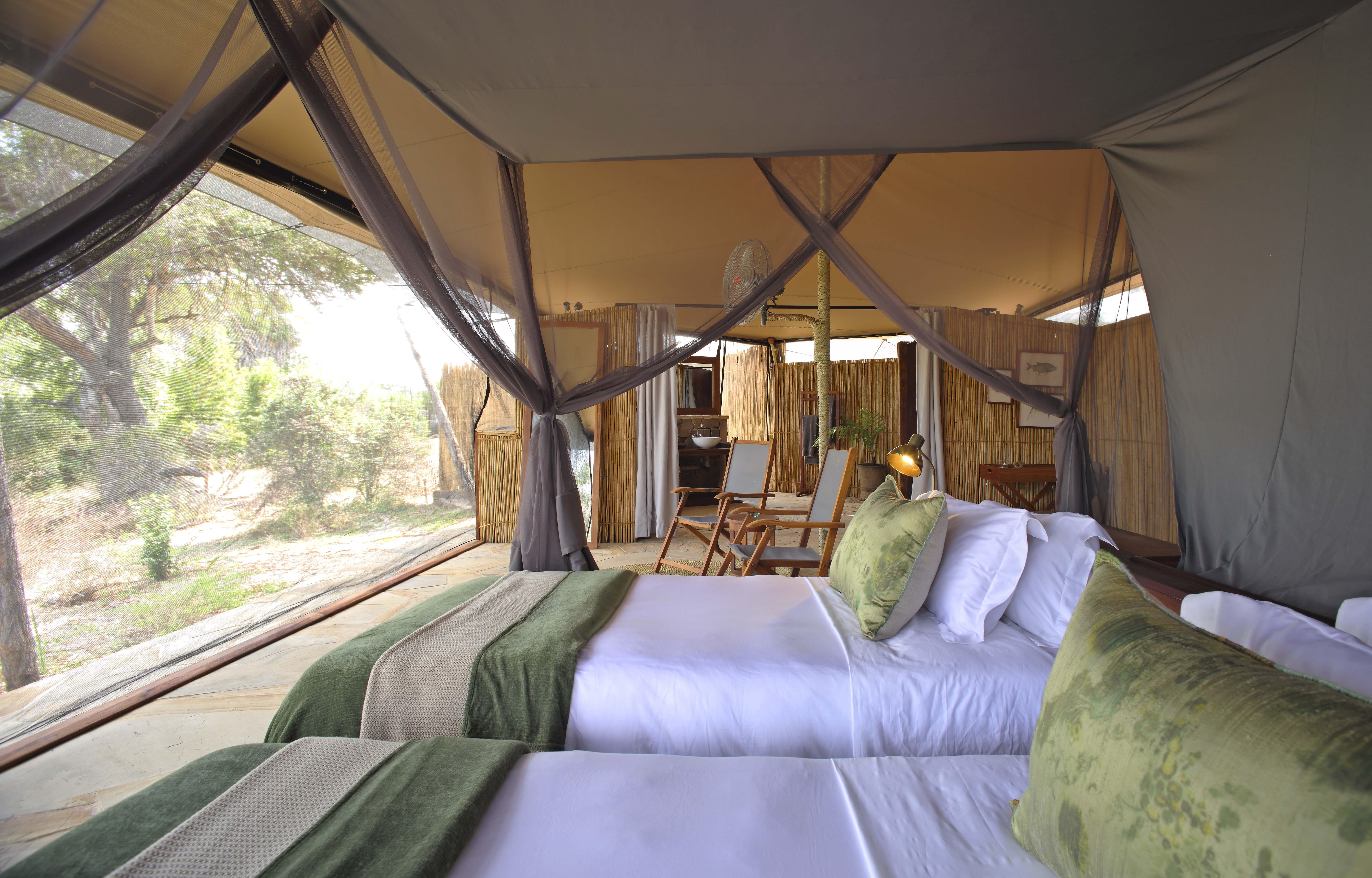 tented camp at selous game reserve, msafiri travels