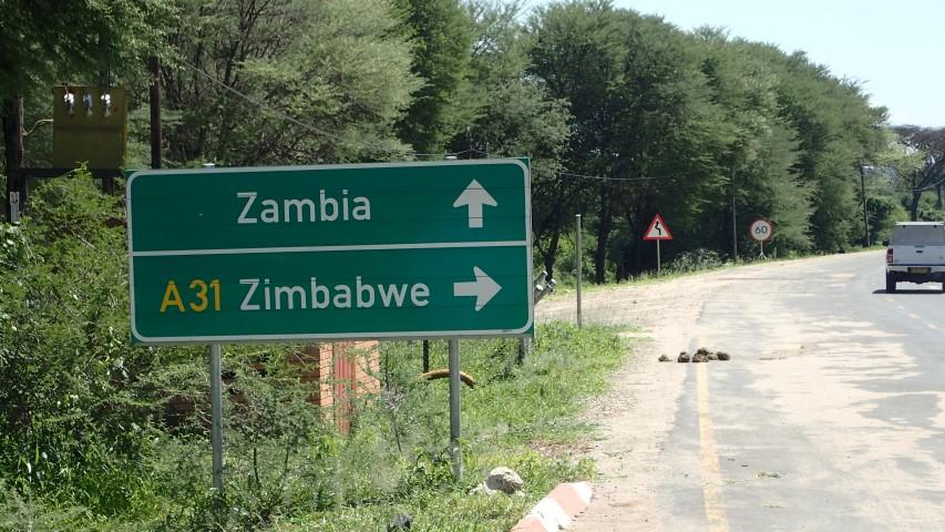border sign zambia zimbabwe crossborder safari
