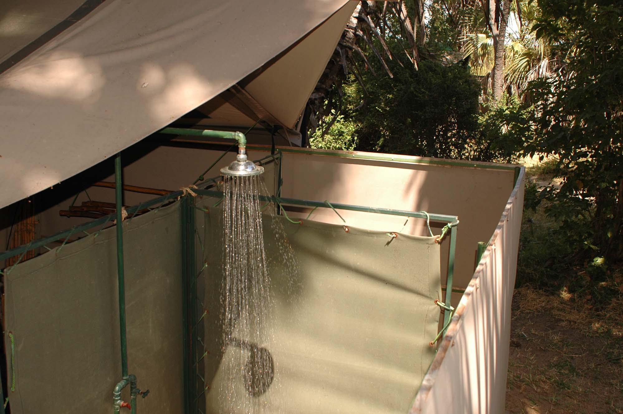 tent bathroom view