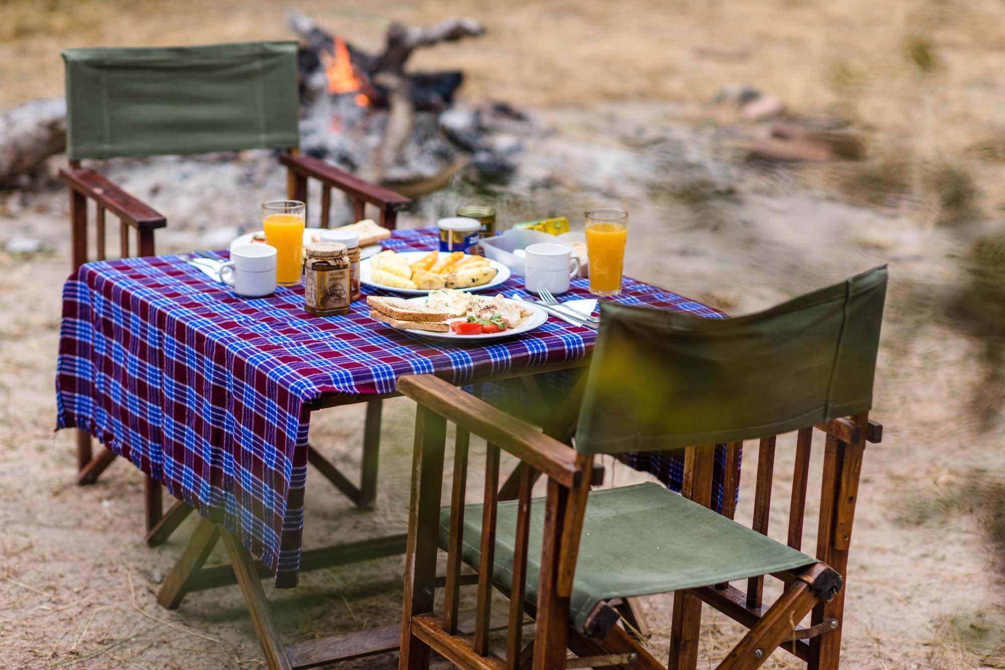 bush dining prepared by msafiri travel