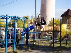 В Оленегорске (н.п.Высокий) открыли спортивную площадку