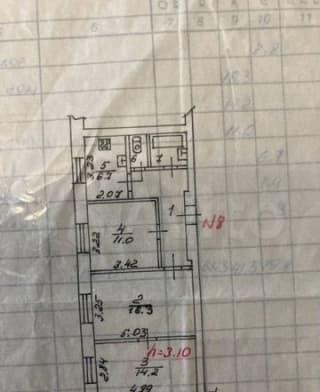3-к. квартира, 61,3м², 3/3эт.