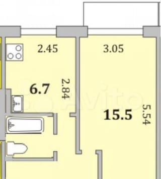 1-к. квартира, 30м², 9/9эт.