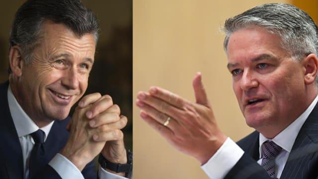 Mathias Cormann (rechts) wird OECD-Generalsekretär. Der Schweizer Kandidat Philipp Hildebrand (links) blieb auf der Strecke.