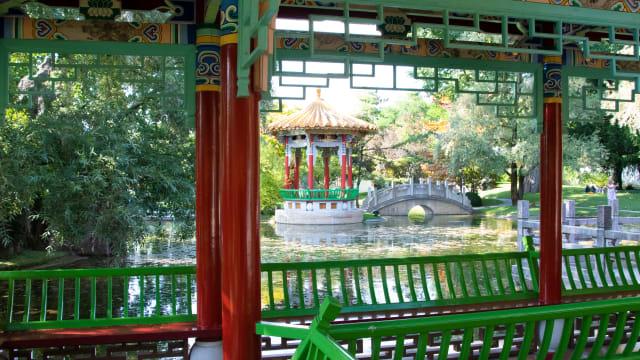 Nicht immer sind die Begegnungen mit China so idyllisch wie im Chinagarten in Zürich.