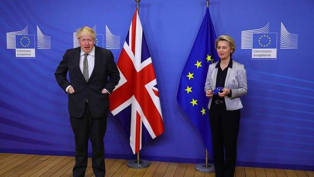 Brexit-Britannien darf keinen Erfolg haben: Boris Johnson und Ursula von der Leyen. Bild: Shutterstock
