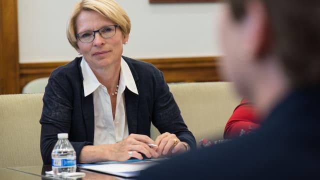 Staatssekretärin Livia Leu hat den EU-Botschafter zu einem Gespräch getroffen. Bild: Gemeinfrei