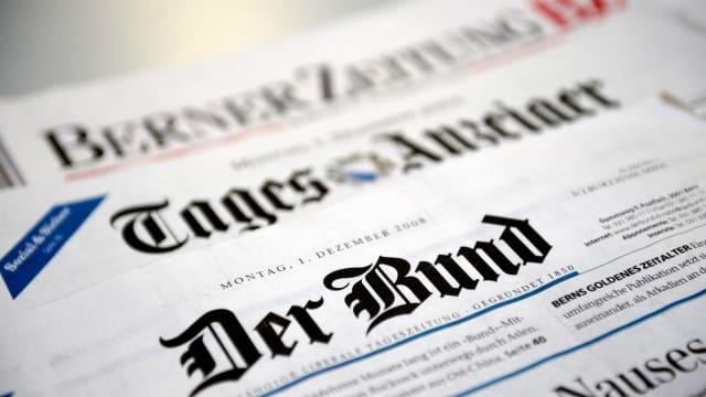 Die 170-jährige liberale Berner Tageszeitung  «Der Bund» verliert auch den letzten Rest ihrer Unabhängigkeit. (Bild: derbund).