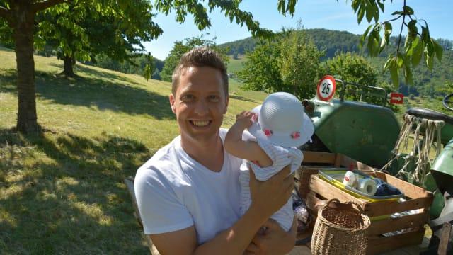 Christian Imark mit Nachwuchs. Bild: zVg