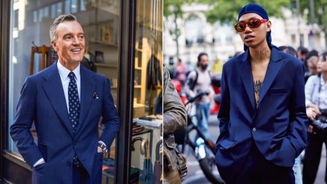 Wer ist hier die Führungskraft? (Antwort: Früher wär's der Mann links gewesen, heute kommt ein Chef auch mal so daher wie der Herr rechts.)  Bilder: «The Sartorialist Man», Prestel Verlag