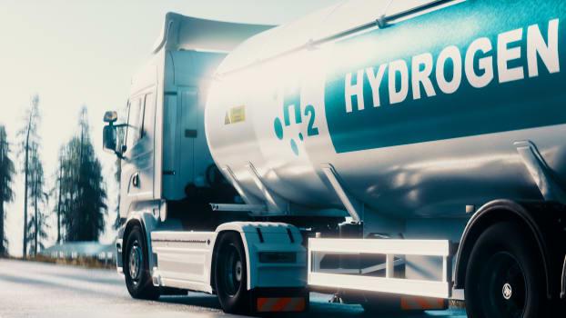 Wasserstoff eignet sich für den Antrieb von Lastwagen. Bild: Shutterstock