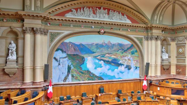 Nationalratssaal im Bundeshaus: Eigentlich der Saal von Milizpolitikern. (Bild: Superikonoskop, CC-Lizenz)
