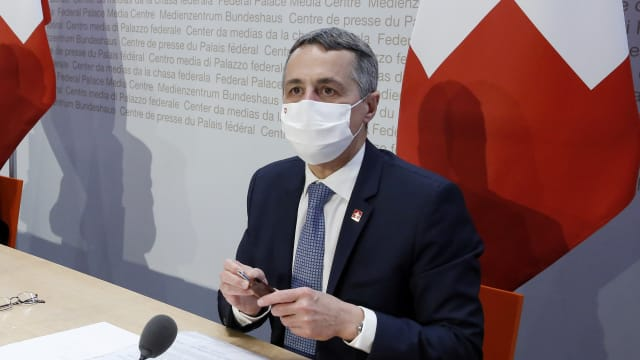 Bundesrat Ignazio Cassis wird dem Parlament die Deblockierung des Kohäsionsbeitrages an EU-Mitgliedsländer vorschlagen. (Bild Ruben Sprich)