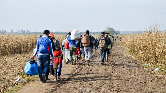 Asylmigranten in Serbien/Kroatien auf dem Weg Richtung Mitteleuropa, 2015. Bild: Shutterstock