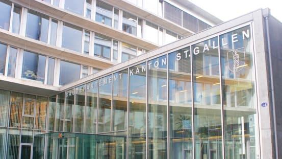 Heisst bald anders: Das Baudepartement des Kantons St.Gallen.