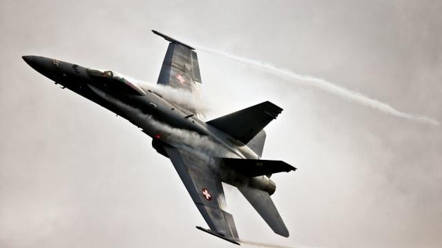Soll bald in den Ruhestand gehen: Eine Hornet der Schweizer Armee. Bild:VBS