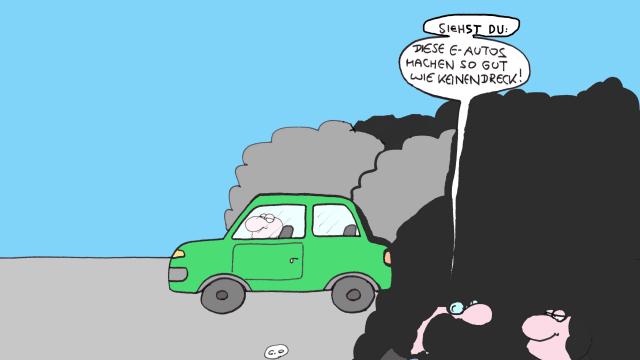 Die CO2-Bilanz von Elektromobilen ist schlechter als gedacht. Bild: Clemens Ottawa