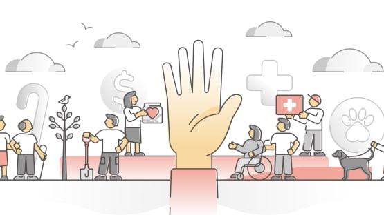 Die Schweiz hilft. Hilft sie richtig? (Bild: Shutterstock)