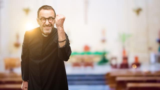 Cool? Grooverender Geistlicher. Foto: Shutterstock