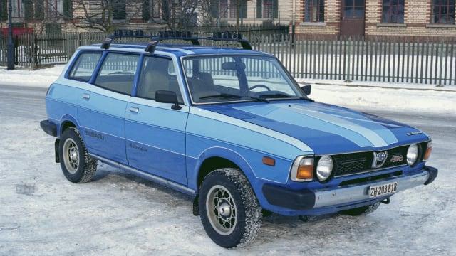 Die schräge Optik des ersten Subaru 4WD schreckte die Kunden in der Schweiz nicht ab.
