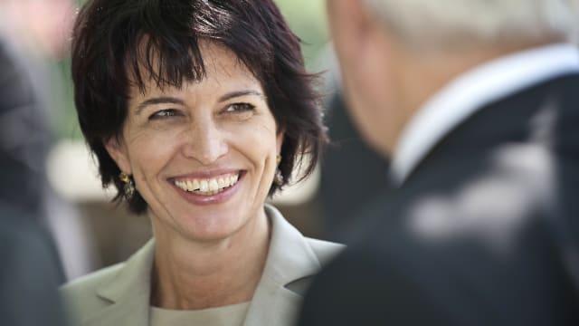 Alle Einwände weggelächelt– Ex-Bundesrätin Doris Leuthard (CVP). Bild: Mediathek VBS