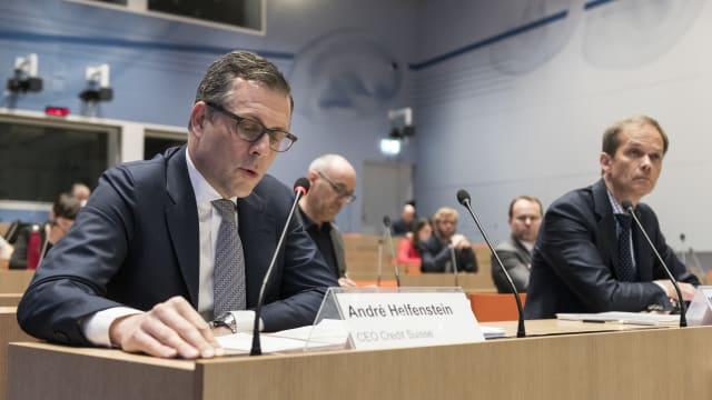 Ein wichtiger Erfolgsfaktor für das Kreditprogramm des Bundes im März 2020: der Einbezug der Banken (rechts Martin Scholl, CEO der Zürcher Kantonalbank).  Bild: Keystone