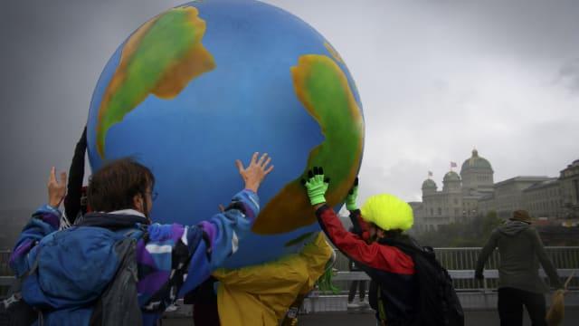 Wie solide ist die Basis der IPCC-Berichte? Klimademonstration in Bern. Bild: Keystone