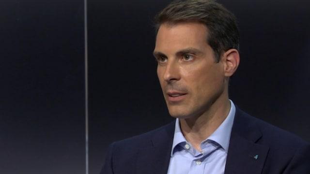 Thierry Burkart, Ständerat und neuer Präsident der FDP. (Screenshot: SRF)