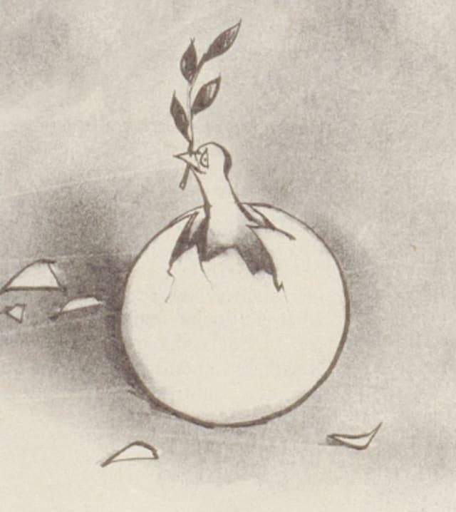 Detailansicht aus der Karikatur von Horst Haitzinger aus dem Nebelspalter Nr. 17/1971
